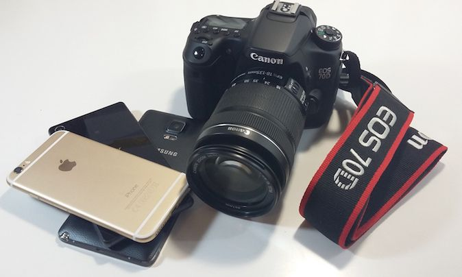 Canon 70D vs Note 4 vs Z3 vs iPhone 6