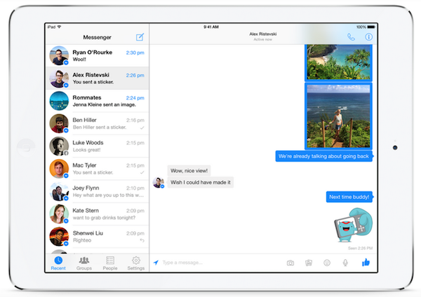 iPad Facebook Messenger