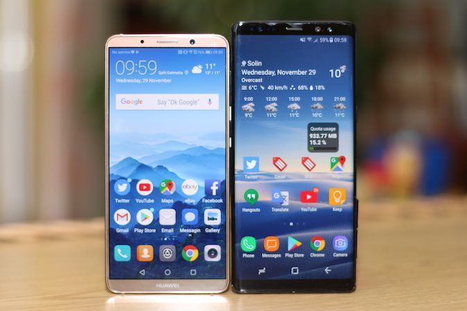 Huawei Mate 10 Pro vs. Samsung Galaxy Note 8 [Usporedba]