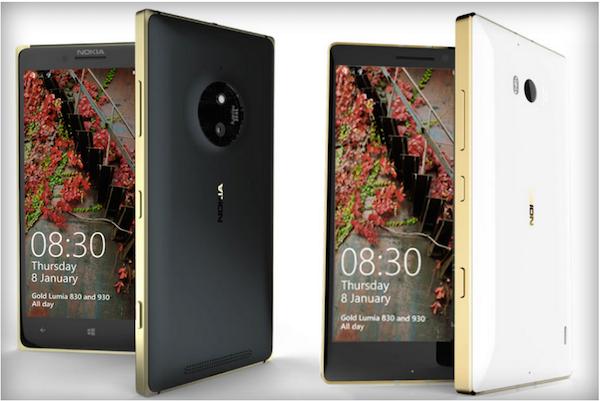 Lumia 930 830 gold