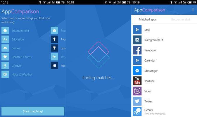 Microsoft AppComparision