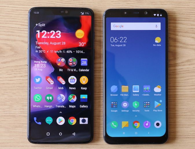 Xiaomi Pocophone F1 vs. OnePlus 6 [Usporedba]