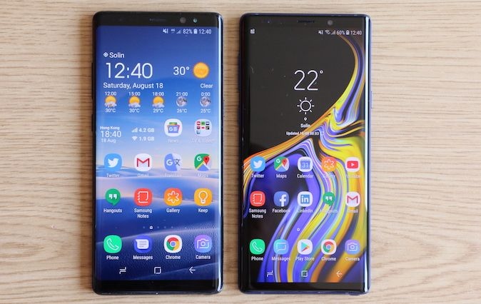 Samsung Galaxy Note 9 vs. Samsung Galaxy Note 8 [Usporedba]