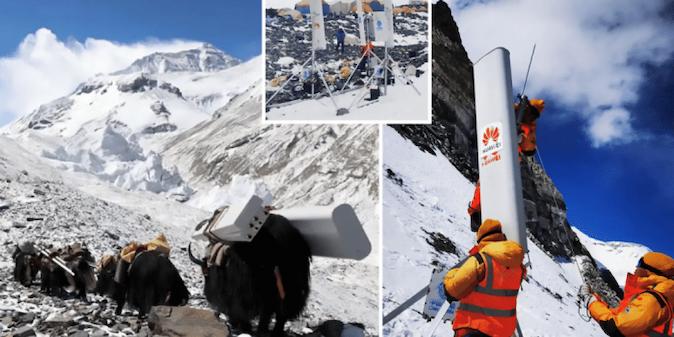 Huawei 5G signalom pokrio Mount Everest: Na 'krovu svijeta' brzina interneta 1 GB/s