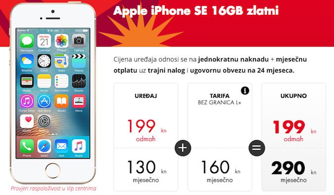 iPhone SE u ponudi Vipneta